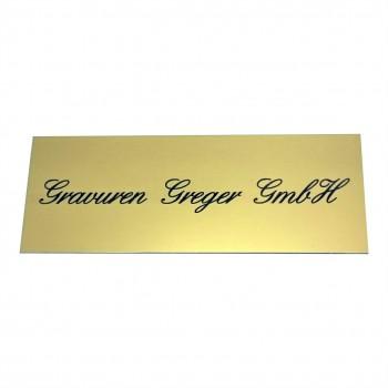 Aluminiumschild goldfarbig eloxiert