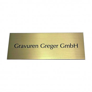 Messingschild goldfarbig gebürstet