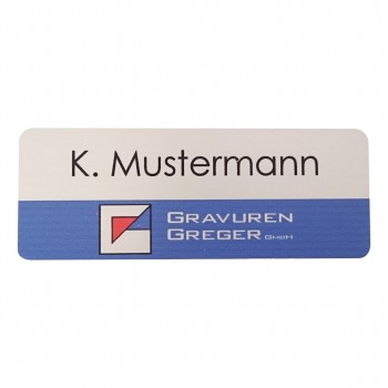 Namensschild Aluminium