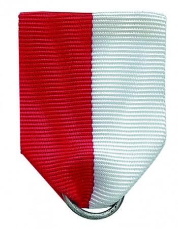 Ordensanhänger rot-weiß mit Sicherheitsnadel