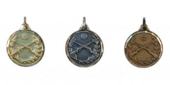 Schützen Gekreuzte Gewehre Medaille Diamond Edge R713
