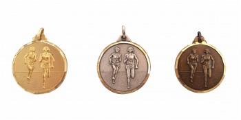 Läuferin Medaille Diamond Edge R743