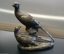 Metallskulptur Fasanenpaar