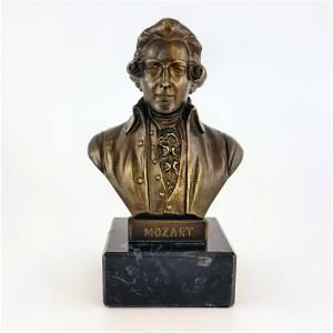 Metallskulptur Büste Mozart