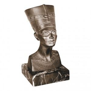 Metallskulptur Büste der Nofretete