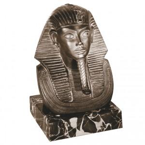 Metallskulptur Goldmaske des Tutanchamun