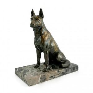 Metallskulptur Schäferhund
