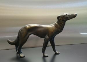 Metallskulptur Windhund