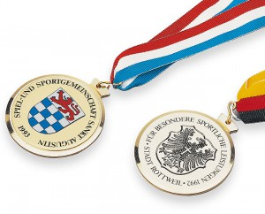 Schwere Messing-Medaille Ø58mm 5650