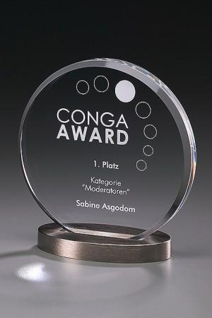 Metal Round Acryl Award 7438