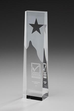 Star Obelisk Glas Award 7907