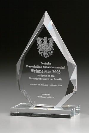 Angle Flame Glas Award 7993