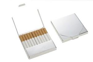 Zigarettenbox 11-er versilbert
