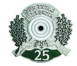 Jubiläumsabzeichen 25 Jahre Schützen