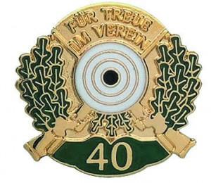 Jubiläumsabzeichen 40 Jahre Schützen