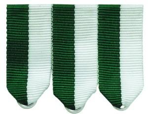 Miniaturschnalle 1-5 teilig grün/weiß