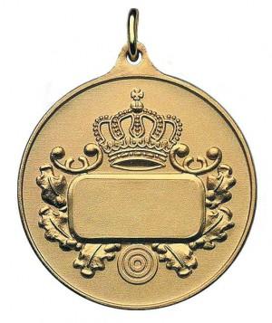 Medaille mit Krone & Gravurfläche