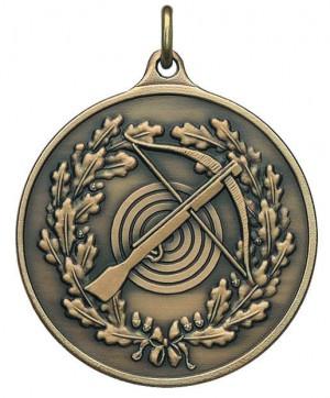 Medaille mit Armbrust und Zielscheibe