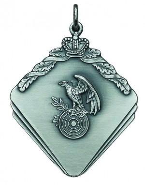 Medaille mit Krone, Lorbeerzweig und Adler