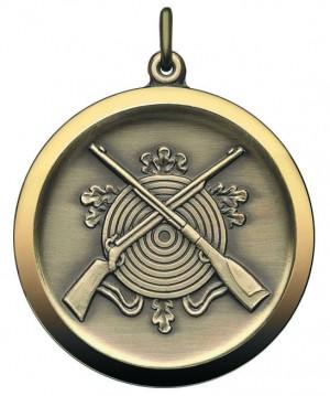 Medaille mit gekreuzten Gewehren und Zielscheibe