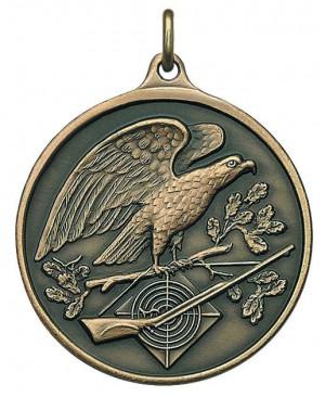 Medaille mit Adler auf Ast sitzend
