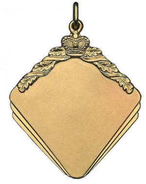 Medaille eckig mit dezenter Krone