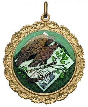 Medaille farbig bedruckt mit Adler