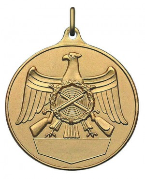 Medaille mit Schützenadler und Gravurfläche