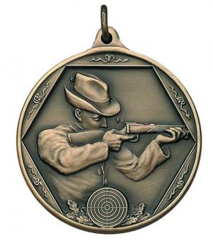 Medaille Schütze mit Gewehr im Anschlag