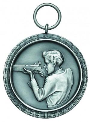 Medaille mit Schützin