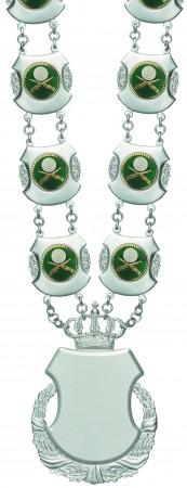 Königskette mit 10 Kettengliedern & vergoldeten Auflagen