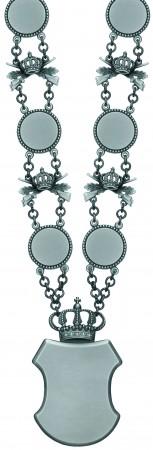 Königskette altsilberfarbig mit 12 Kettengliedern
