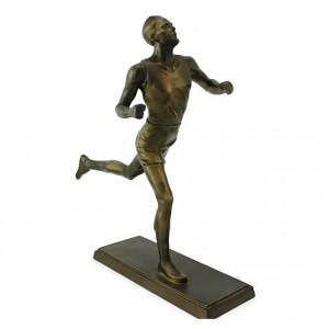 Metallfigur Läufer bronziert