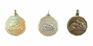 Motorrad Medaille Diamond Edge R725
