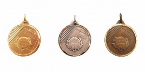Handball Feld und Tor Medaille Diamond Edge R743