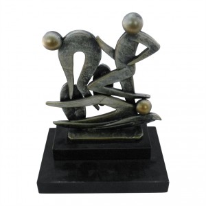Metallfigur Triathlon